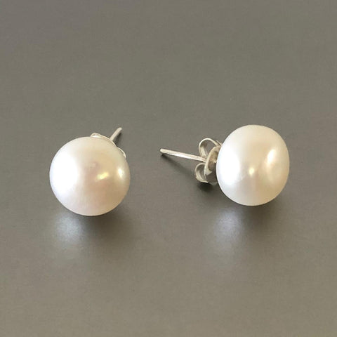 Pearl Stud Earrings 12 mm