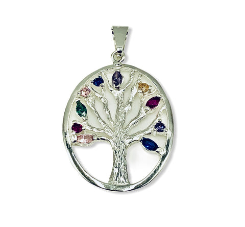Oval Tree of Life Pendant 30mm