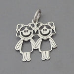 Two Girls Pendant 17 mm