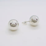 Round Ball Stud Earrings 12 mm