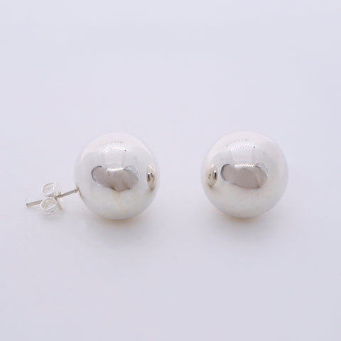 Round Ball Stud Earrings 14 mm