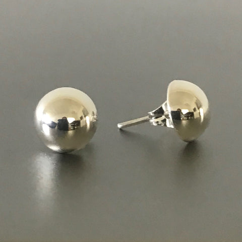 Half Ball Stud Earrings 8 mm