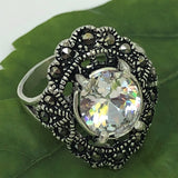Oval Marcasite Ring #6