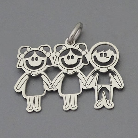 Two Girls- One Boy Pendant 17 mm