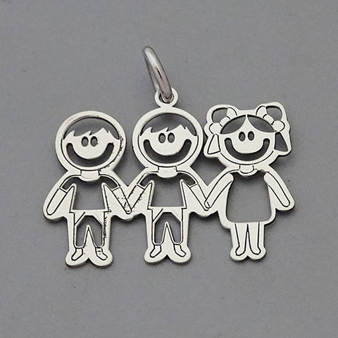 Two Boys- One Girl Pendant 17 mm