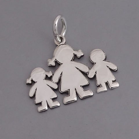 Girl-Mom-Boy Pendant 15 mm