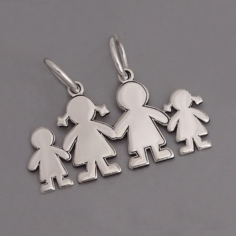 Boy-Mom-Dad-Girl Pendant 15 mm