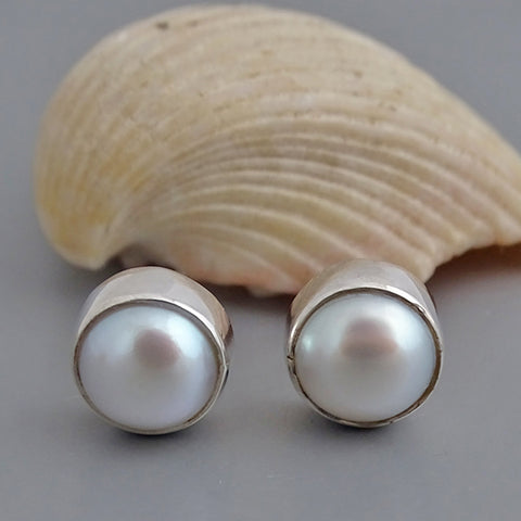 10mm Cultured Pearl Stud Earrings