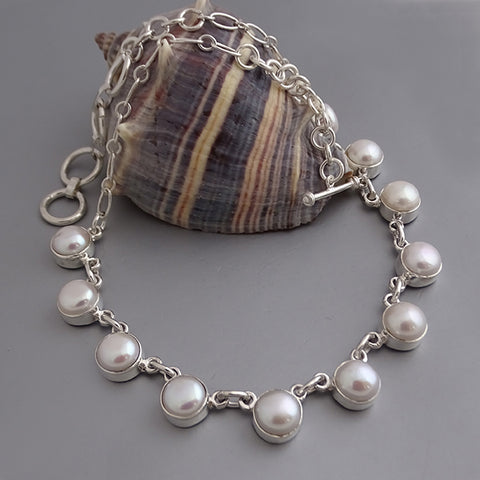 10mm Cultured Pearl Necklace 17""