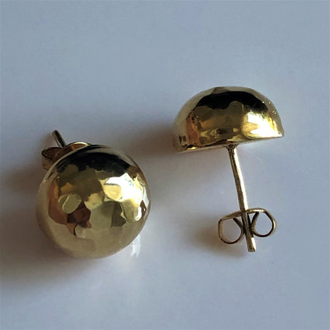 Half Ball Stud Earrings 14mm
