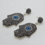 Hamsa Earrings 39mm