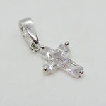 Cubic Zirconia Cross Pendant 13 mm