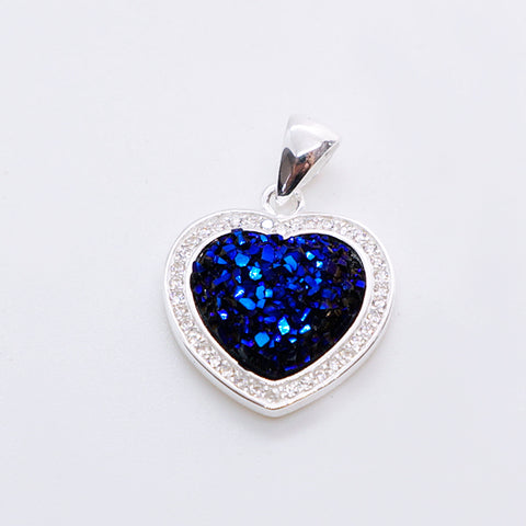 Druzy Heart Pendant 17mm