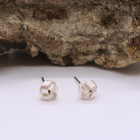 Love Knot Stud Earrings 5mm