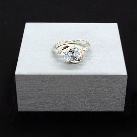 CZ Solitaire Ring # 8
