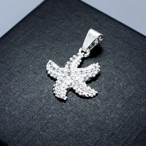 Cubic Zirconia Starfish Pendant 19 mm