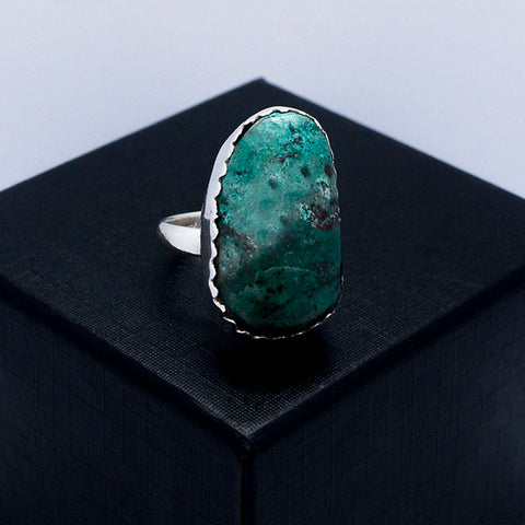 Natural Turquoise Adjustable Ring