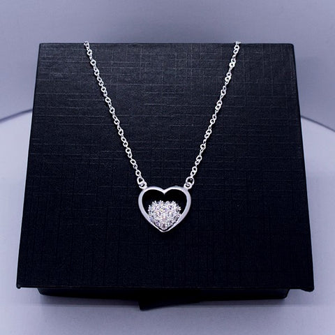 Double Heart Necklace 17""