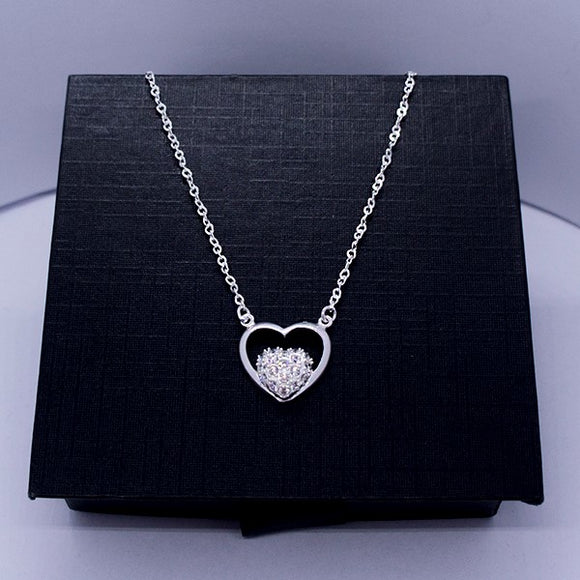Double Heart Necklace 17
