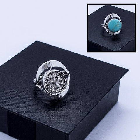 Saint Benedict Rotating Ring #7