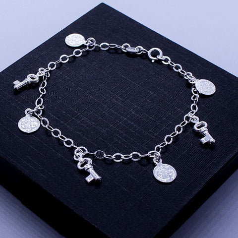 Saint Benedict Keys and Medals Bracelet 7.5""