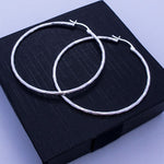 Diamond- Cut Round Tube Hoop Earrings 51mm