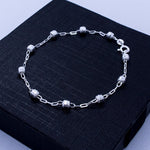 Faceted Beads Bracelet 7""
