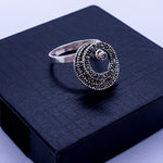 Marcasite Rotating Circles Ring #8