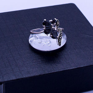 Marcasite Grapes Ring #9.5