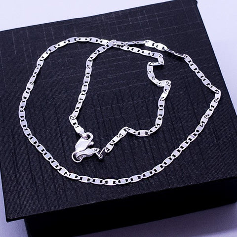 Sparkle Mirror Link Chain Necklace 18""