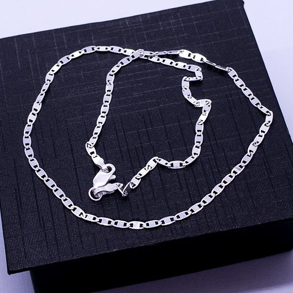 Sparkle Mirror Link Chain Necklace 18
