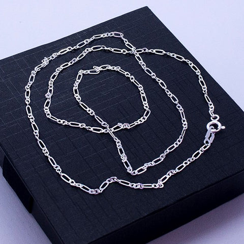 "Figaro Chain Necklace 24"" Link 3*1"
