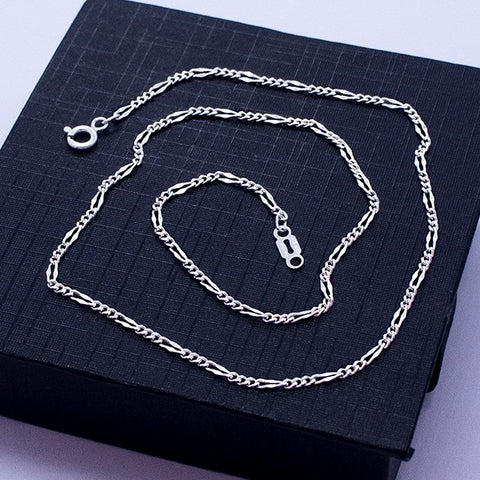 "Figaro Chain Necklace 22"" Link 3*1"