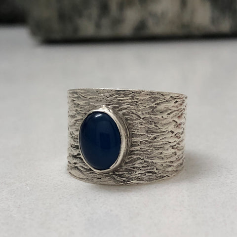 2mm Textured Band Ring #9