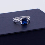 Square CZ Ring #8