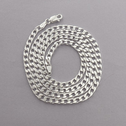 3 mm Cuban Chain Necklace 22""