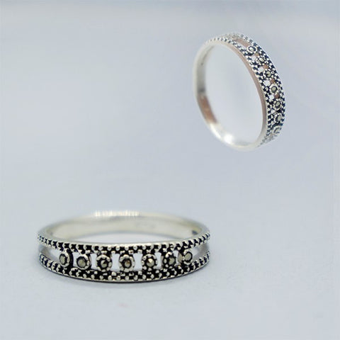 Marcasite Dots Ring #8.5