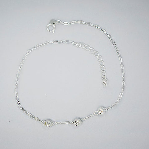 Diamond Beads Chain Anklet 10""