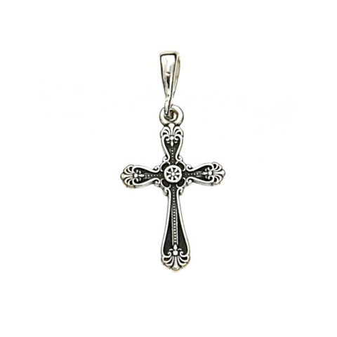 Oxidized Cross Pendant 20mm