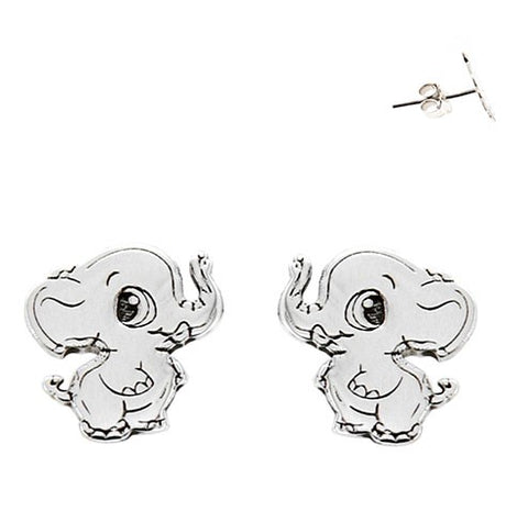Mini Elephants Stud Earrings 8mm
