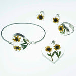 Dried Natural Sunflowers Heart Set