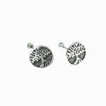 10mm Tree of Life Stud Earrings Screw Back