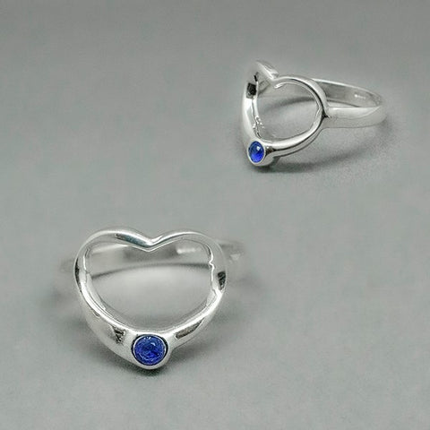 CZ Heart Ring # 8