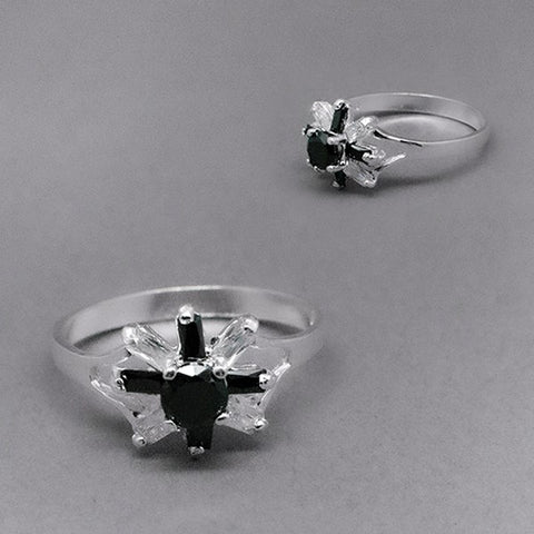 CZ Eight Petal Flower Ring # 9