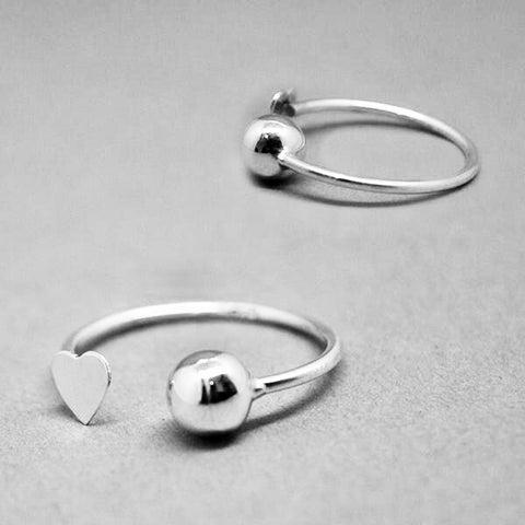 Heart & Ball Ring #Adj