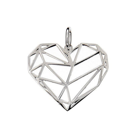 Origami Heart Pendant 23 mm