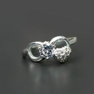 CZ Infinity Heart Ring #9