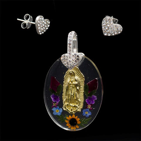 Our Lady of Guadalupe Dried Natural Flowers Set