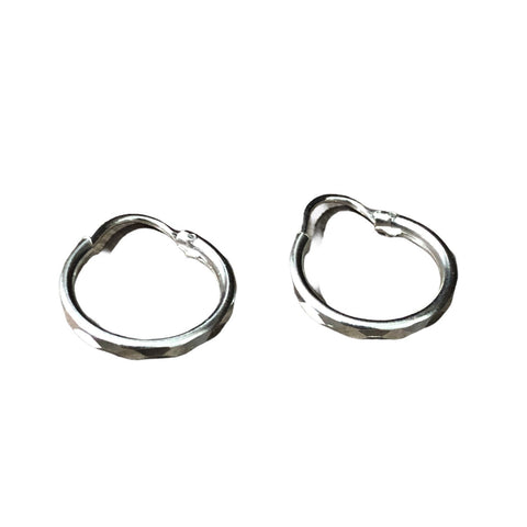 2mm Diamond Cut Round Tube Hoop Earrings