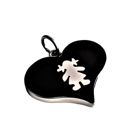 Girl Heart Pendant 20mm